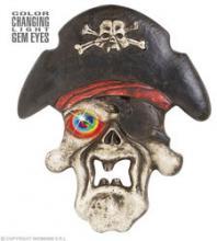 Partyitems.nl - Halloween Piraten Schedel met Licht 40cm